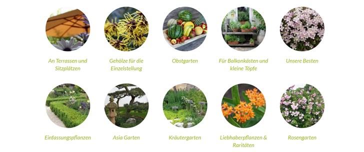 Native Plants Startseite Übersicht Produktkategorien