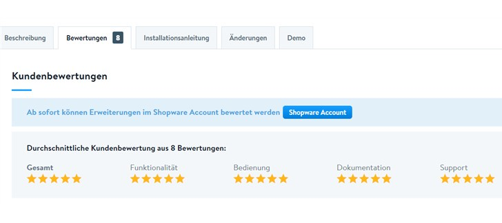Testbericht Plugin Filter in linke Spalte / Sidebar Community Store Bewertungen