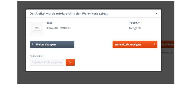 Testbericht Plugin Gutscheinfeld im Warenkorb Shopware Community Store