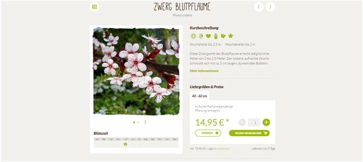 Native Plants Die Übersicht auf der Produktdetailseite