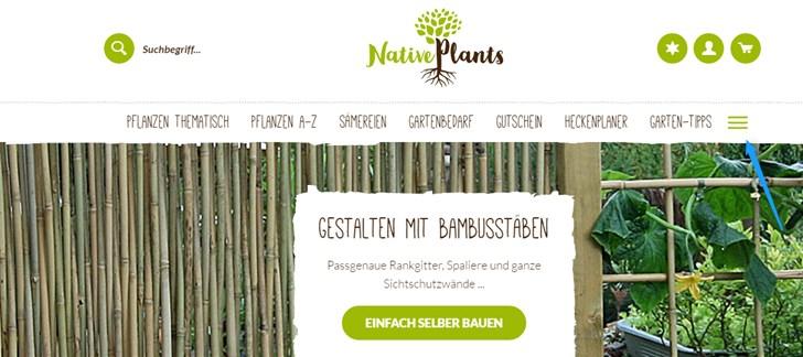 Native Plants gut versteckte Service-Infos
