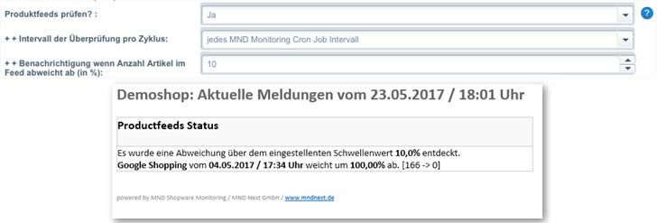 MND Next Shopware Monitoring Basic Plugin Productfeed